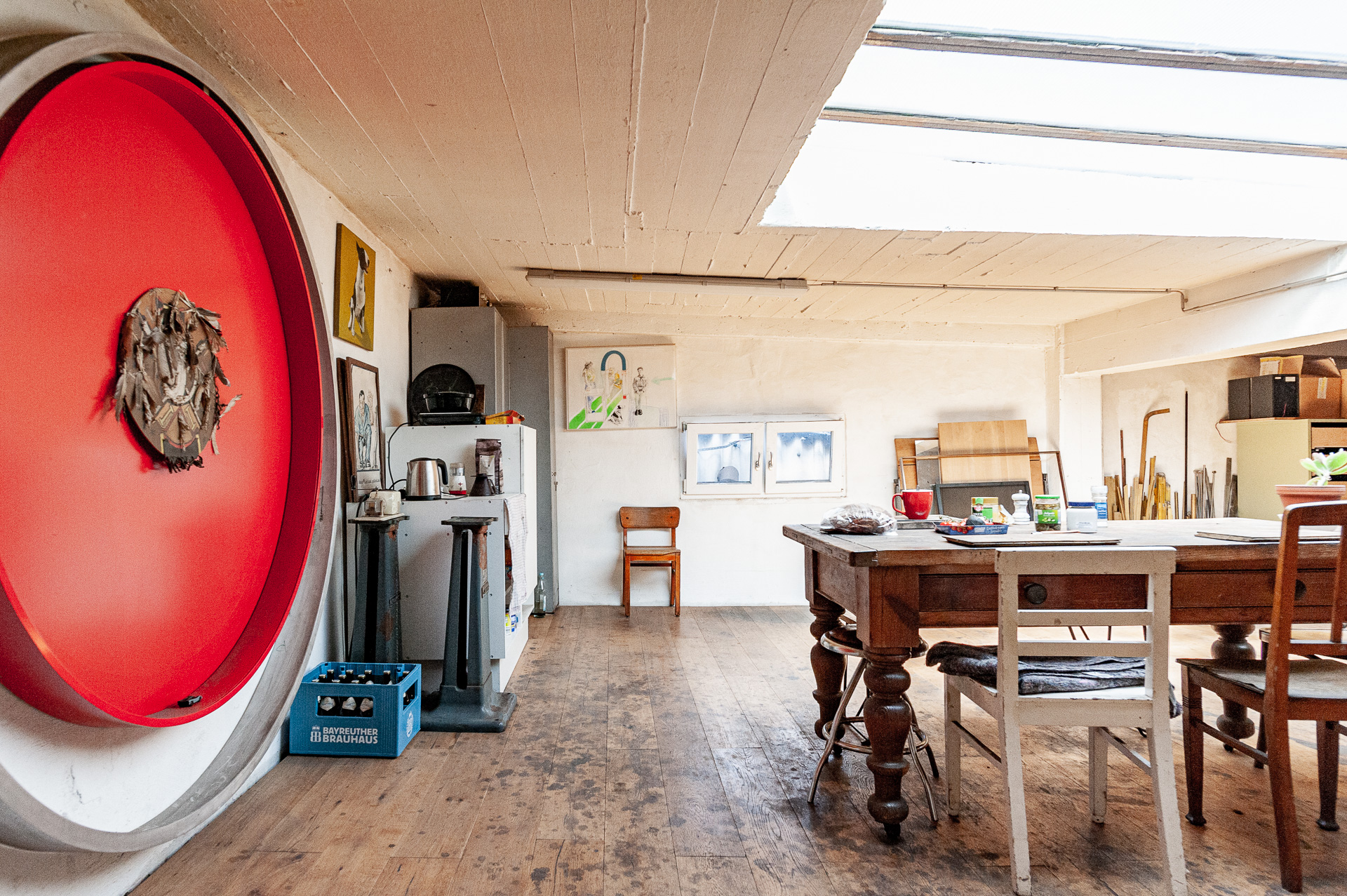 Besprechungsraum in der Werkstatt von Johannes Sitsen