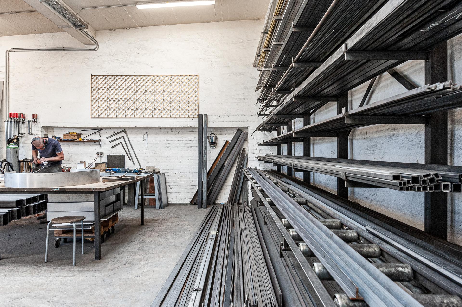 Lagerbereich der Werkstatt von Johannes Sitsen